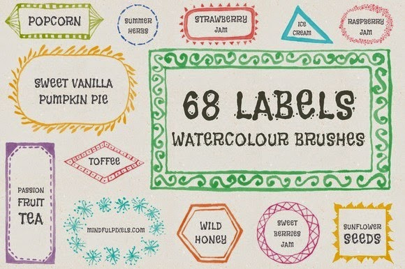 water color label brush