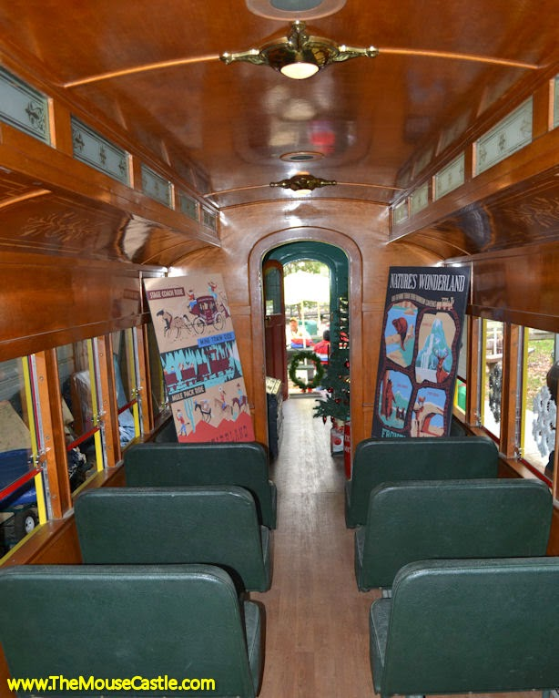 Santa Fe & Disneyland Railroad Combine Car Interior