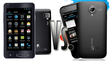 Micromax A100 Superfone Canvas Vs. iball Andi5c