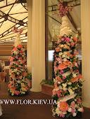 Цветочное украшение.Отель Ривьера