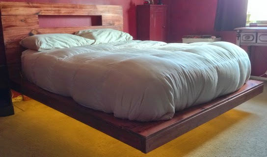 DIY Floating Bed Frame With LED Lighting
