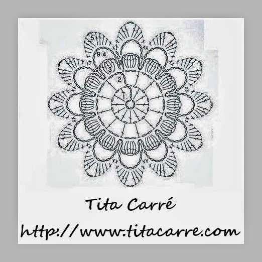 Motivo em crochet Flor