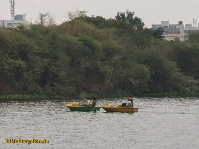 Boating in Madivala Lake