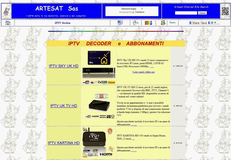 Artesat - IPTV Section