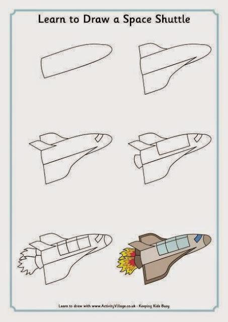 cara menggambar pesawat jet bagi anak anak