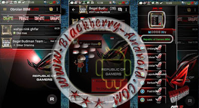 BBM2 MOD Terbaru Tema Republik Of Gamers v2.9.0.51 Apk Clone