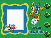 Moldura Brasil rumo ao hexa