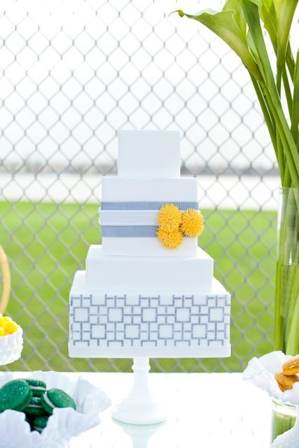 Tagged amazing weddings wedding cake wedding inspiration yellow and grey