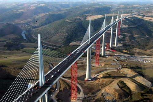 Jembatan millau, jembatan tertinggi di dunia (perancis)