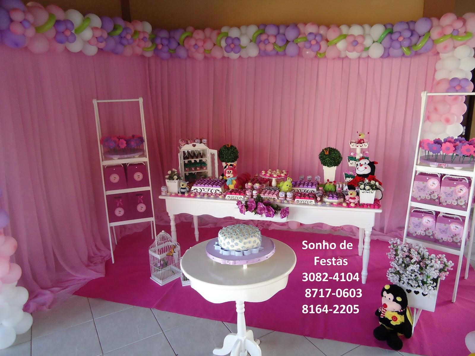 Sonho de Festas Festa provençal Jardim cor de rosa básico