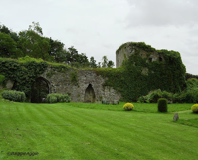 The Gatehouse, Usk Castle, South Wales, photographed from inside the Outer Ward.