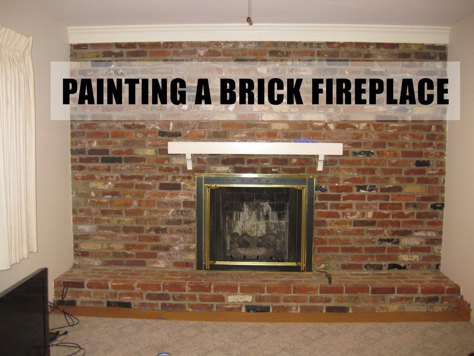 According To Jax Painting A Brick Fireplace