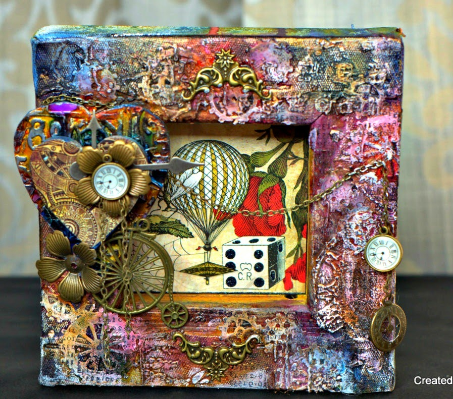 Steampunk Reverse canvas