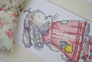 Somebunny to Love cross stitch project finish. DMC free somebunny