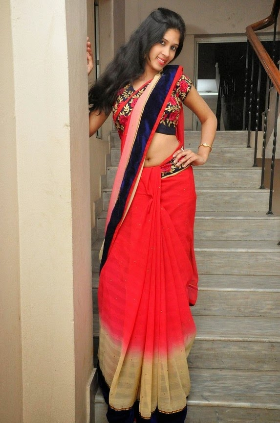 actress om sizzling photos in saree-HQ-Photo-1