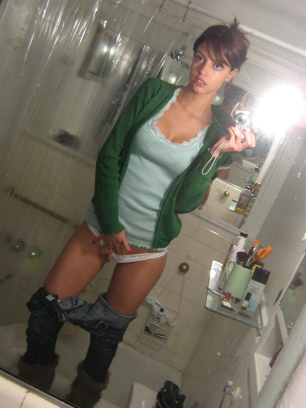 Share Cell phone self shot nudes pussy was and