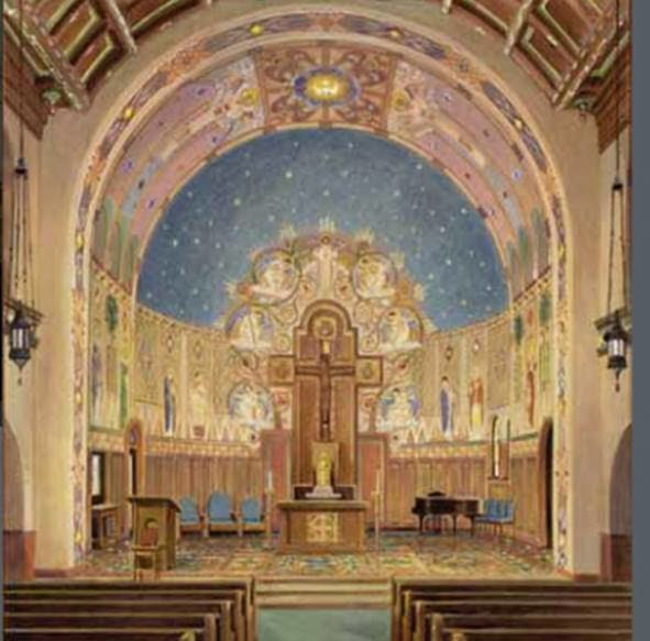 Catholic architecture and history of toledo ohio for Church mural restoration