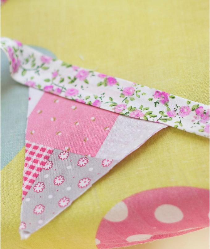 hacer banderines tela sin coser