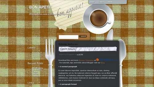 Bon Apetit - Free Blogger Template