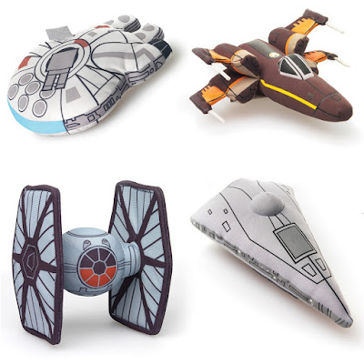 Star Wars: The Force Awakens Plush Vehicles by Comic Images - Millennium Falcon, Resistance X-Wing Fighter, First Order TIE Fighter & First Order Star Destroyer