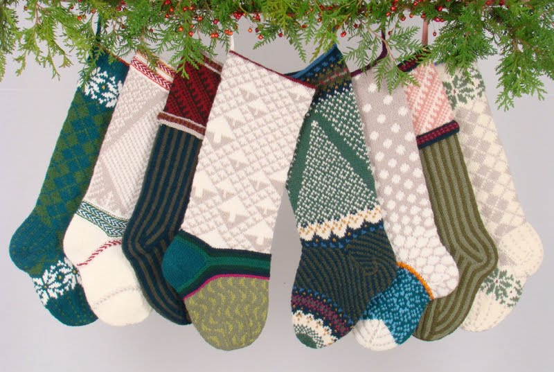 Knitting Pattern Child s Christmas Stocking : The Knitting Needle and the Damage Done: A Run of Christmas Stockings