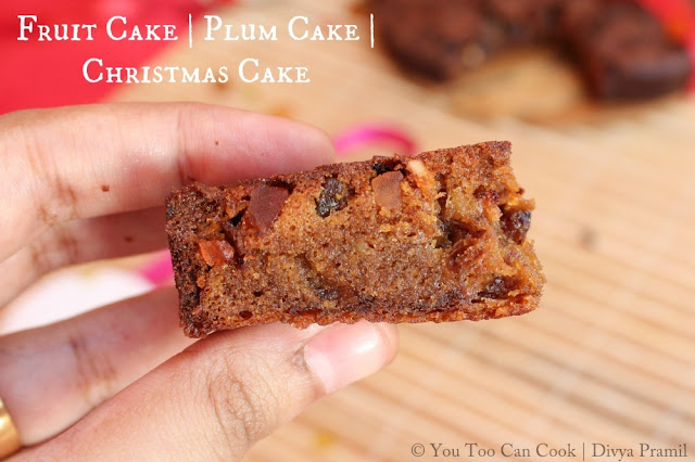 Fruit Cake | Plum Cake Using Pressure Cooker | Christmas Cake ( (Non-Alcoholic)
