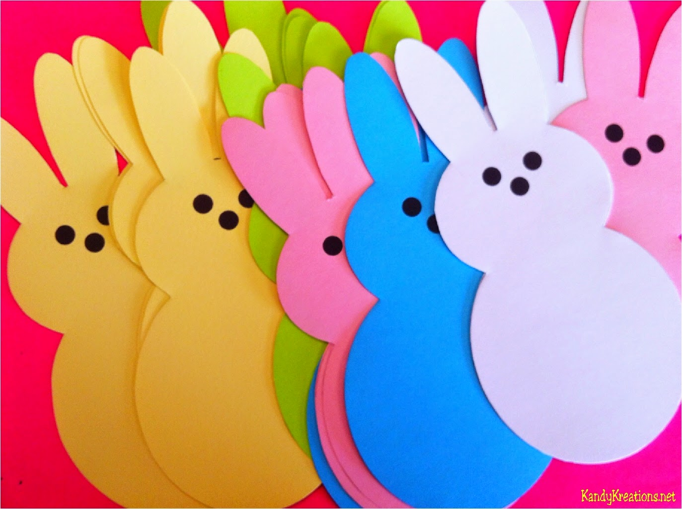 Easter Peeps Printable Table Runner