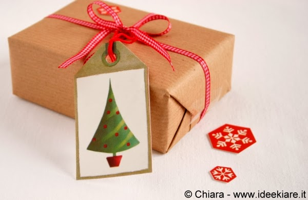 biglietto chiudipacco natalizio albero di natale