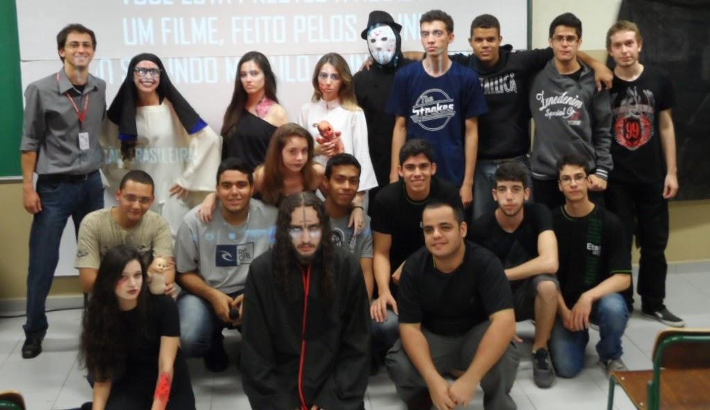 Alunos do projeto Cine Terror 6D