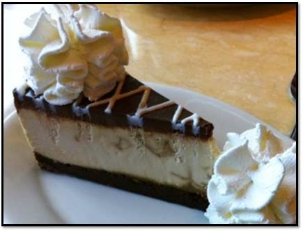 http://www.thecheesecakefactory.com/menu/Cheesecakes/kahlua_cocoa_coffee_cheesecake