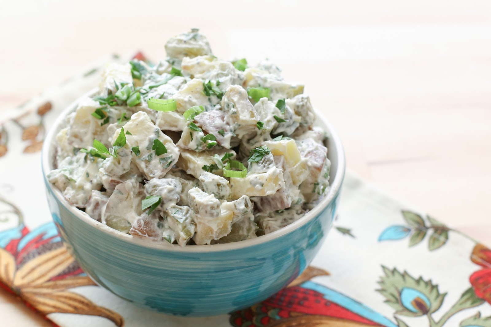 Pickles and Parsley Potato Salad recipe by Barefeet In The Kitchen