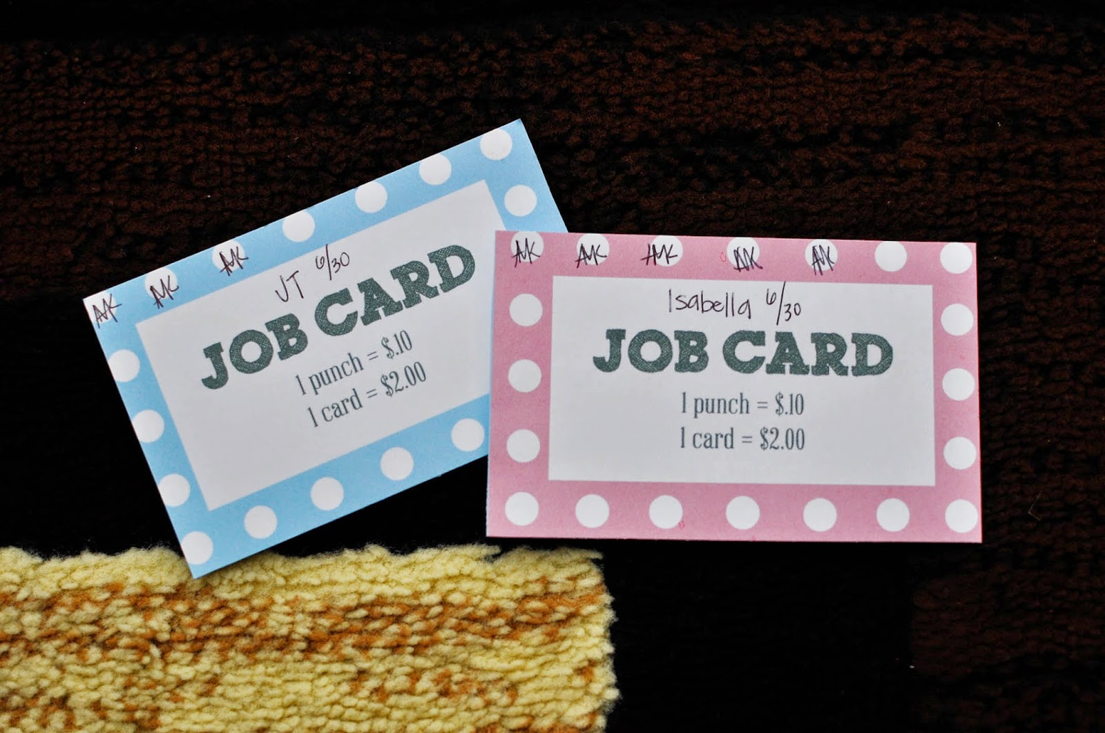 chore punch card