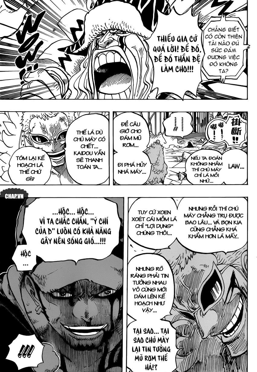 One Piece Chapter 729: Thất Vũ Hải Doflamingo vs. Thất Vũ Hải Law 007