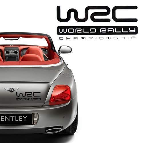 Racing car stickers with wrc symbol