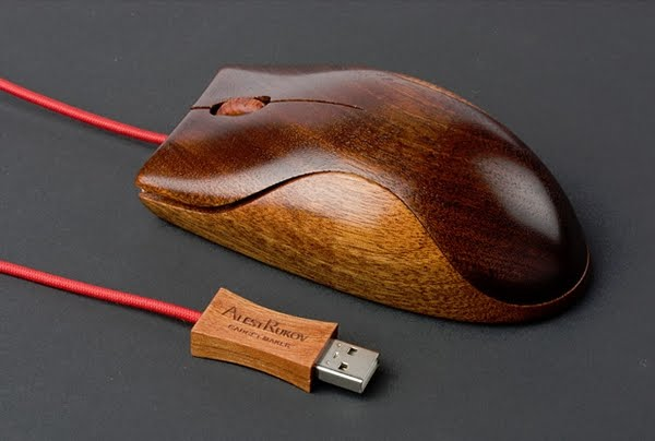 Mouse de madera