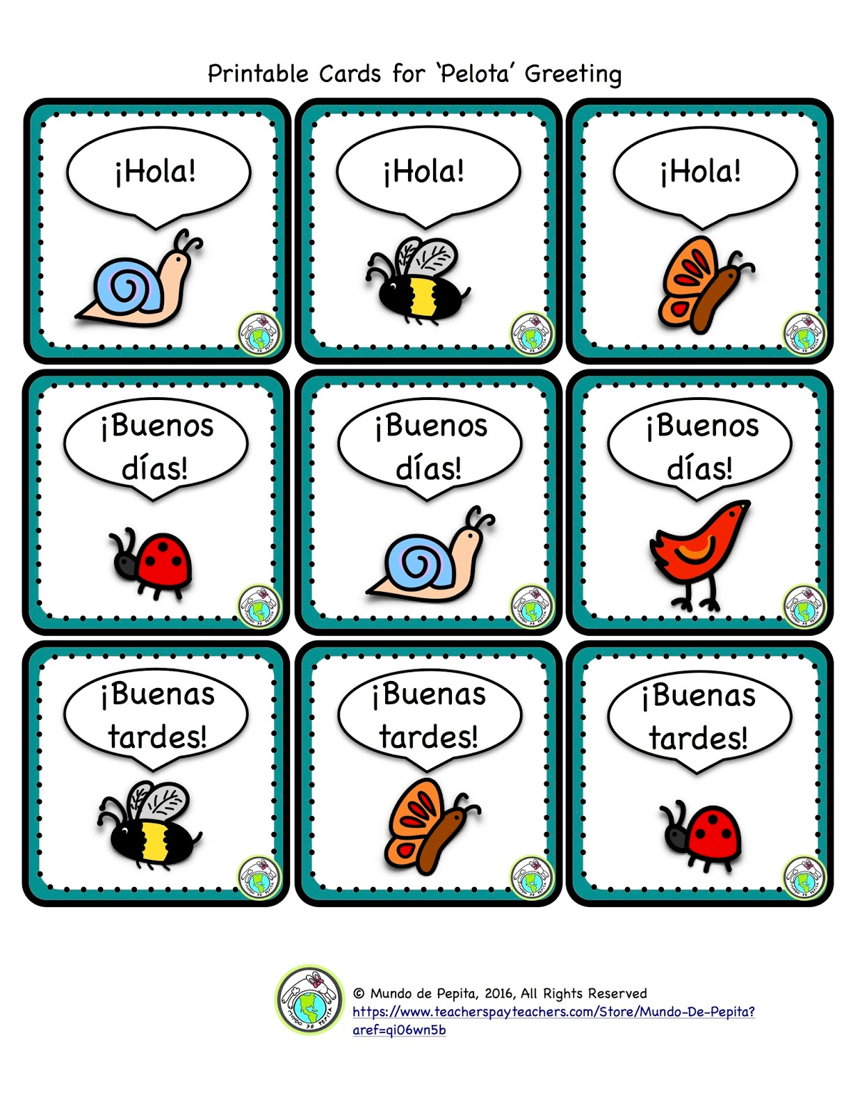 mundo de pepita 3 greeting games with a ball for