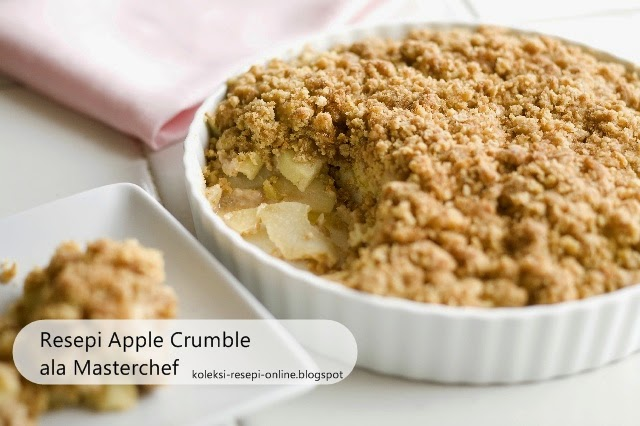 Resepi Apple Crumble ala MasterChef