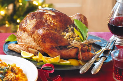 Lemon, date & hazelnut stuffed turkey Recipe