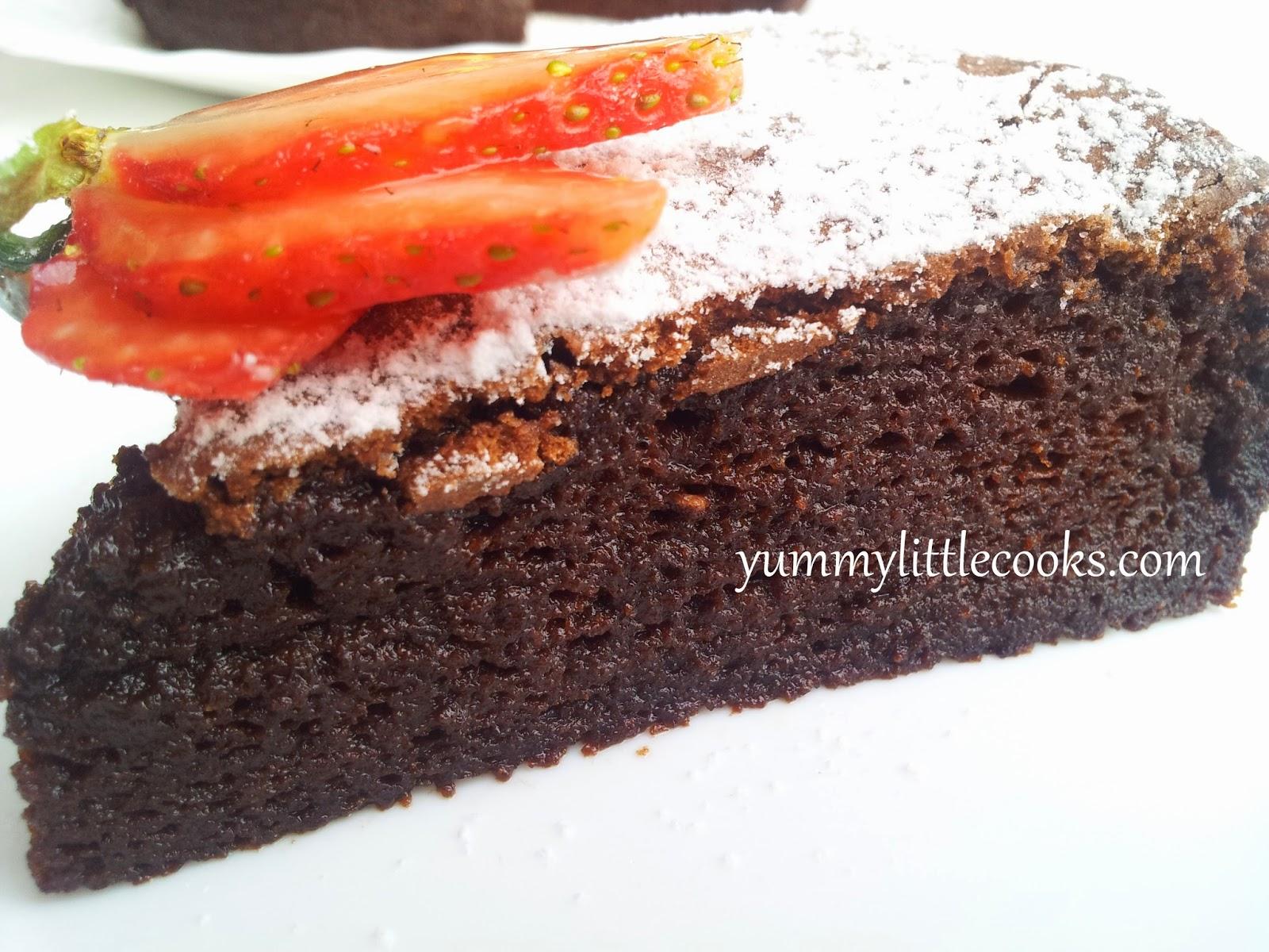 Flourless Nutella Souflle Cake