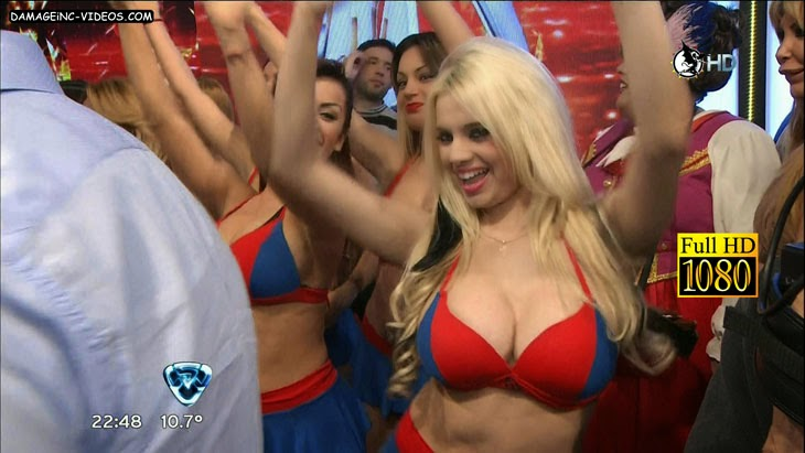 Big chested Tatiana Vazquez tiny top boobage in HD video