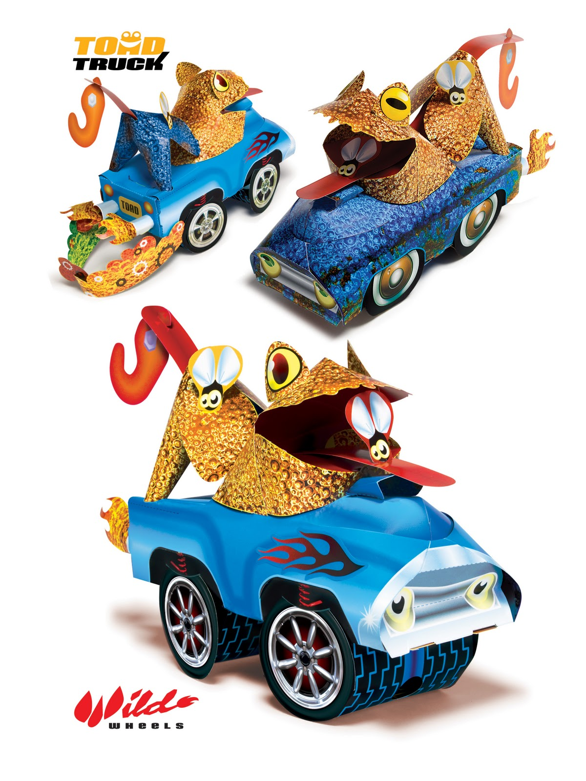 Motor Monsters Paper Model Cars Wild Wheels Toy