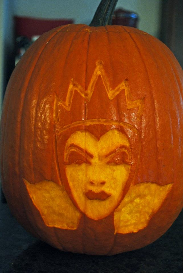 The disney diner snow white evil queen pumpkin carving