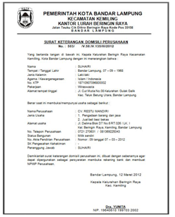 contoh surat keputusan pendirian perusahaan contoh surat izin usaha