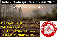 Indian Railway Recruitment 2015