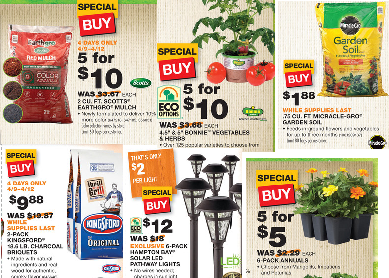 Coupons And Freebies Home Depot Huge Spring Sale Ames