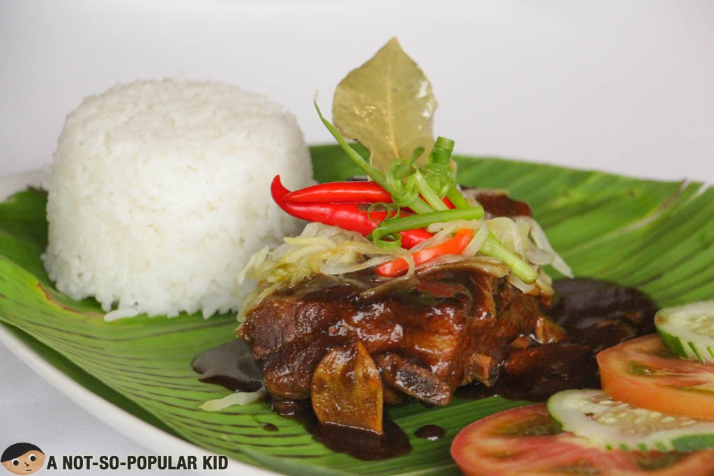 Baby Back Ribs Pork Adobo of Nostalgia Dining Lounge