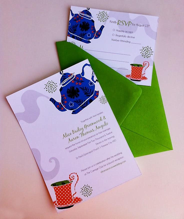 покана за сватба чаено парти