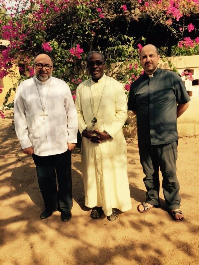 Con el Obispo de Bembereké