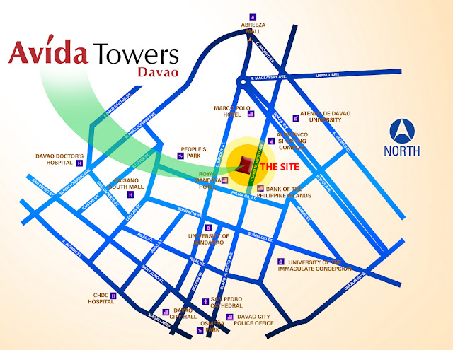 Avida Towers Davao Vicinity Map