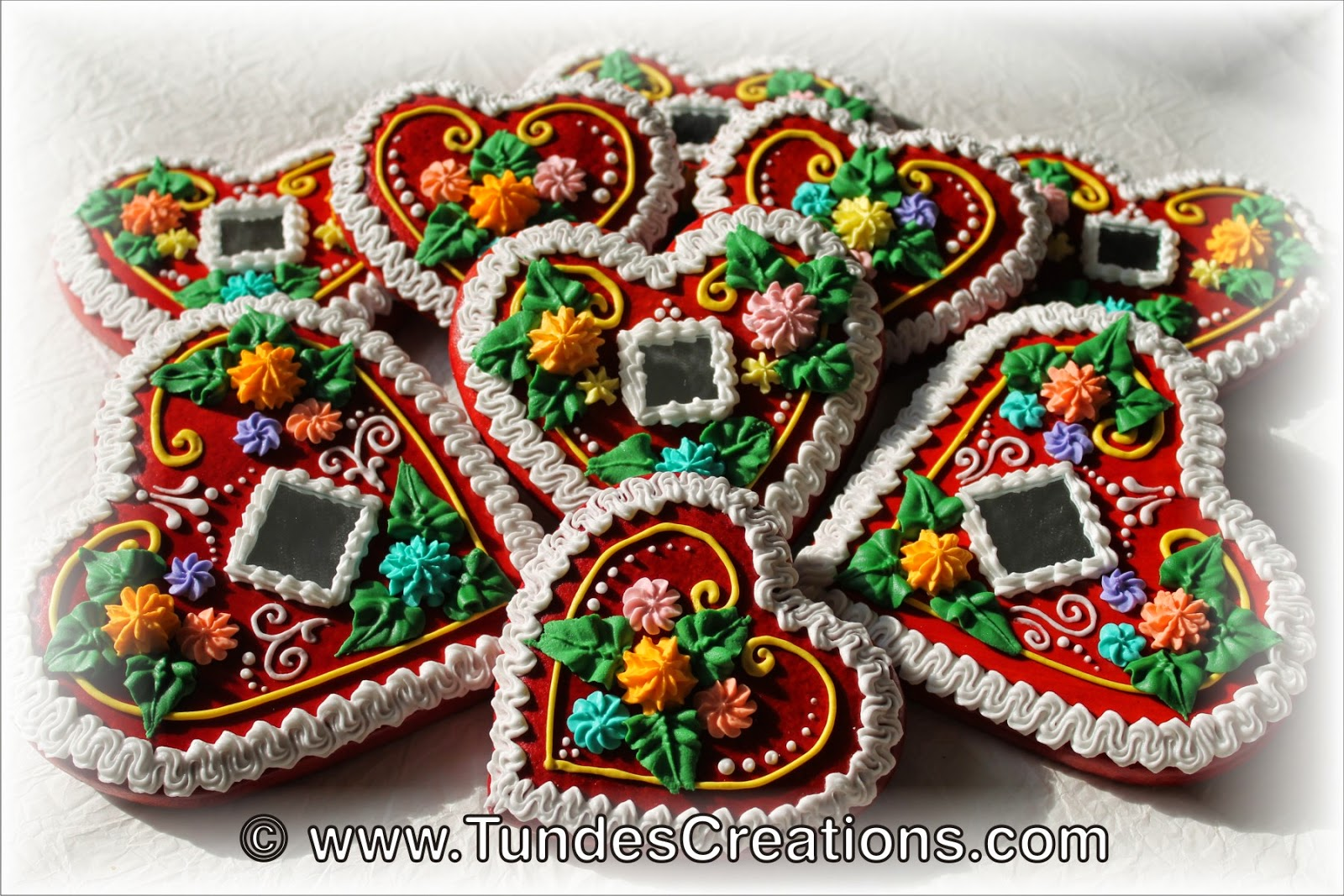 The Gingerbread Artist Traditional Hungarian Red Gingerbread Hearts